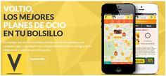 La app voltio @VoltioClub.La app para Es muy interesante el poder descubrir nuevos restaurantes y bares que no conocias.