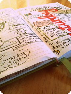 Get creative with your journaling. Be inspired by this doodled art journal and bring focus to your journaling by adding doodles.