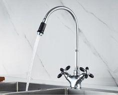 Johnson - Modern Color Detail Kitchen Faucet Large Kitchen Sinks, Black Kitchen Faucets, Brass Kitchen, Room Kitchen, Kitchen Ideas, Brass Faucet, Sink Faucets, Modern Colors, Trendy Colors