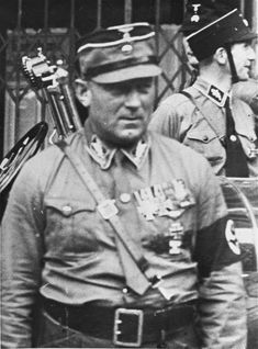 Pressured by German army commanders, whose support he would need to become President, Hitler directs the SS to murder SA Chief of Staff Ernst Röhm and his top commanders. . Portrait of Ernst Roehm, SA chief of staff. Berlin, Germany, ca. 1934.