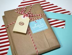 Love the combo of kraft and bakers twine
