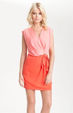 Heed Colorblock Faux Wrap Dress | Nordstrom