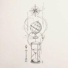 This simple hourglass – Tattoo Drawings Hourglass Drawing, Hourglass Tattoo, Tattoo Sketches, Tattoo Drawings, Body Art Tattoos, Drawing Sketches, Tatoos, Tatouage Sublime, Globus Tattoos