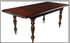 Victorian furniture style dinning table http://www.museumfurniture.com/victorian/