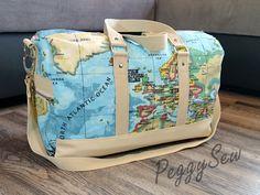 Boston weekender bag sewn by PeggySew - Sewing pattern www.sacotin.com/en