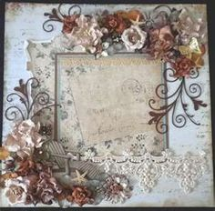 ... Scrapbook Shabby Chic Floral Lace Page by Becky | Best Scrapbook Pages