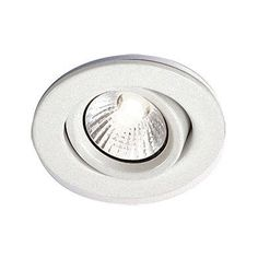 "Bazz Lighting 303-600M RF GU10 Series Single-Light 4"" Tallations Finished in Wh White Recessed Lights Recessed Trims Decorative Trims"