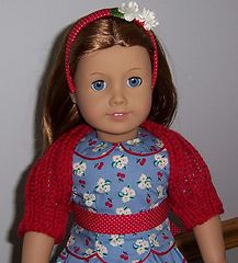 """Ravelry: Knitted Shrug for an 18"""" American Girl Doll pattern by Janice Helge"""