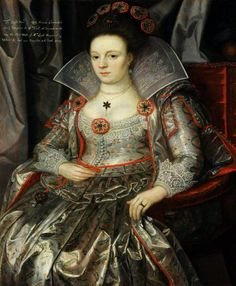 """Lady Frances Cavendish, Lady Maynard"", attr. Marcus Gheeraerts the younger, ca. 1612; NT 1129107"