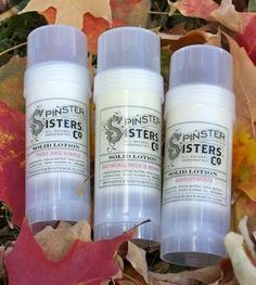 Natural Solid Lotion - 3 Pack