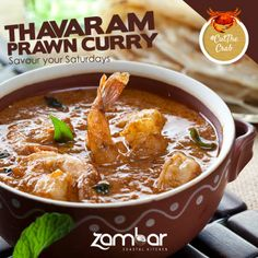 #CutTheCrab :  Savour your Saturdays with our Tharavaram Prawn Curry made to satiate your hunger.   Do you like Prawns dry or in a curry?