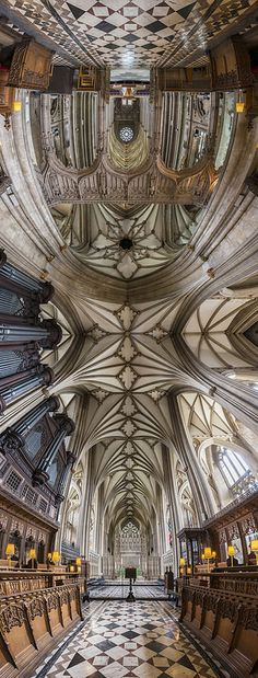 Richard Silver, Bristol Cathedral in Bristol, England Bristol Cathedral, Church Signs, Church Interior, Church Architecture, See Images, Kirchen, Sacred Geometry, 30, Around The Worlds