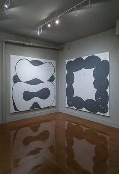 "Amy Feldman, 2nd solo show ""High Sign"", Blackston Gallery, New York City, 2014 [shown: Killer instinct (L), Gut Smut (R)]"