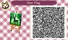 ACNL/ACHHD QR CODE-Deer Flag, Wall, Fabric