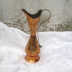 Copper vase copper pitcher moroccan decor 70s by EndlesslyVintage, $26.00