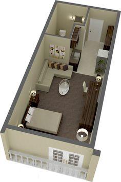 Planta de quarto de hotel, utilizada para Kit net  Moveis sob medida contato@solucoescontainers.com.br 47-9623-2178 (Tim - whatsapp) 47-9252-4438 (Vivo) 47-8879-3280 (Claro) 47-8480-4717 (Oi)
