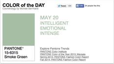 APPart – Mobile Art – Pantone Color of the Day – 'Smoke Green' – TheAppWhisperer
