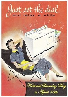Vintage Laundry room ad