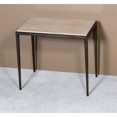 Interlude Home Morell End Table - Travertine