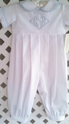 Boys Baptism/ Christening / Holiday Outfit Romper Long Legs in Pique 3 to 24 months on Etsy, $64.00