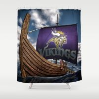 Viking Ship Shower Curtain