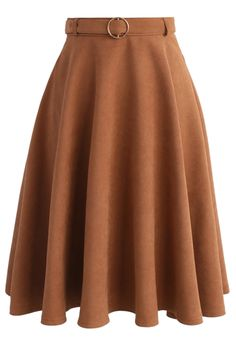 My Favorite Option A-line Skirt in Tan - New Arrivals - Retro, Indie and Unique Fashion