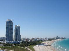 Vu de Miami du pont le plus haut du bateau