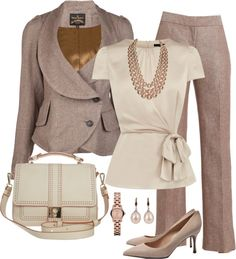 Soft pastel outfit for an interview or on the job! #womens #fashion #style