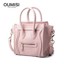 Oumisi Hot! 2017 Luxury Brand Designer Classic Nano Solid Color Smiley Cross Body Tote Women Bag, Smile Face Purse lady bag CS(China)