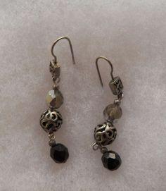 $3.00 - Silvertone Dangle Earrings (111716-22 ER) fashion, jewelry #Unknown #DropDangle