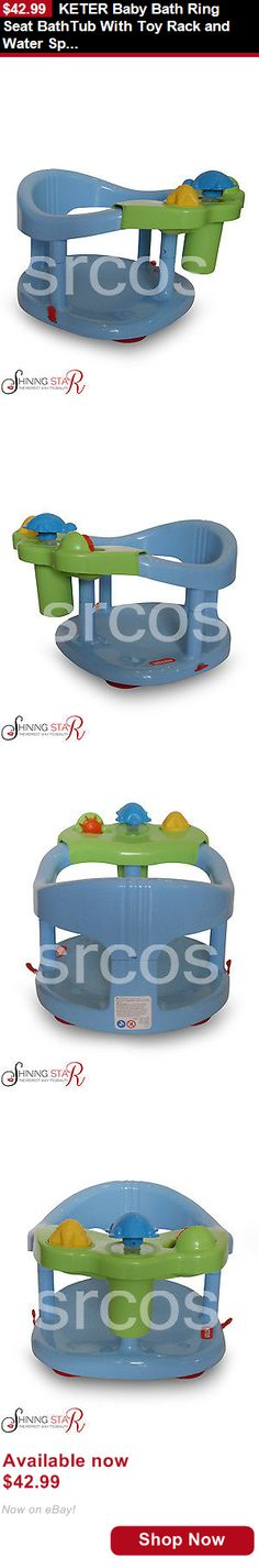 Baby Bath Tub Seats And Rings: Keter Baby Bath Ring Seat Bathtub With Toy Rack And Water Splash Toys Blue BUY IT NOW ONLY: $42.99
