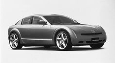 1999 - Mazda RX-Evolve Concept - equipped with the newly-developed rotary engine, RENESIS, and was a completely new four-seater sports car.