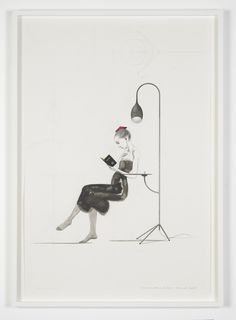 Charles Avery - Untitled (Girl with bonnet and lamp #1) (2013)