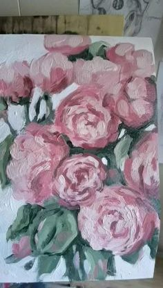 Peony Painting, Acrylic Painting Flowers, Abstract Flowers, Acrylic Art, Acrylic Painting Canvas, Watercolor Paintings, Canvas Art, Guache, Art Plastique
