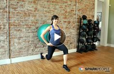 You will LOVE this 8-minute ball workout that targets your entire lower body: butt, thighs, inner thighs, calves and more! No excuses: You CAN fit this into your day! | via @SparkPeople #fitness #exercise #video #legs