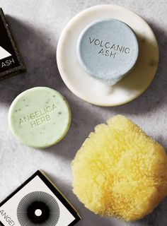 Rich in minerals and antibacterial sulfur, volcanic ash has been used for centuries as a natural skin purifier. Some even say it slows down the aging process. Angelica Herb, Natural Sea Sponge, Modern Bathroom Accessories, Volcanic Ash, Bath Sponges, Homemade Bath Bombs, Unique Tile, Bath Melts, Soap Base