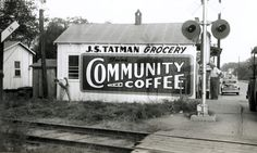 Vintage Community Coffee ad. Presumably somewhere in Louisiana.