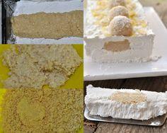 Torta gelato raffaello senza gelatina