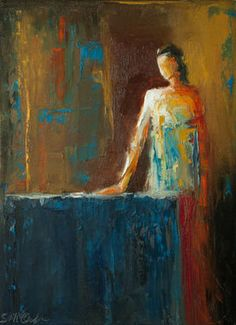"""Saatchi Art Artist: Shelby McQuilkin; Oil 2014 Painting """"Mistress of the House"""""""