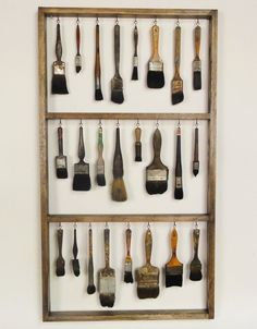 This is an instructional on how to clean paintbrushes, but I would personally do this as decoration. I think it looks so cool!