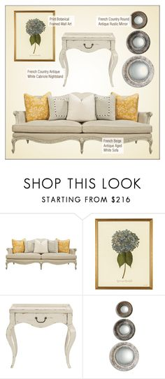 French Country Decor by kathykuohome on Polyvore featuring WALL, Reine, country, livingroom and frenchcountry