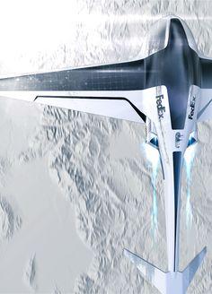 FedEx Autonomous Cargo Drone Concept by Raphael Doukhan