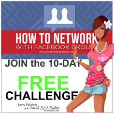 We are up to 45 FAB LADY BOSS so far!!! YAY! Pretty exciting! Challenge BEGINS OCTOBER 26TH. IF YOU WANT IN: SUBSCRIBE NOW. I'm capping the entries at 75 so Hurry Ladies! :) Link is below... ----->>> FREE 10-DAY FACEBOOK GROUP CHALLENGE: NOT only for group administrators. Learn the skills you need to find your ideal niche build a following and convert these into clients & sales. ---->>> DO NOT MISS this opportunity to raise the bar on your communication skills! ----->>> Challenge SIGNUP…