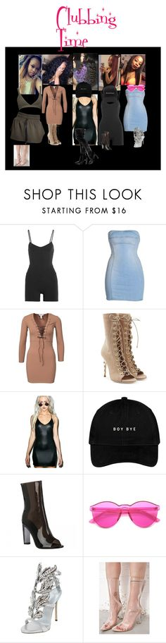 """""""Clubbing Time // Trill Dollz"""" by xglodollx ❤ liked on Polyvore featuring Live the Process, Dsquared2, Balmain, Widow, adidas, ZeroUV, Giuseppe Zanotti and Cape Robbin"""