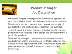 Image Result For Product Manager Job Description  Product