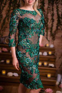 """Платья ручной работы. Ярмарка Мастеров - ручная работа. Купить платье """"Фрейя"""". Handmade. Зеленый, вязаное платье, связано крючком"""
