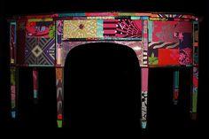 beautiful wallpaper furniture...