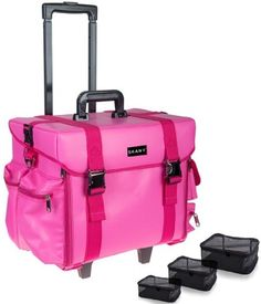 3005ec5ffb9 SHANY Makeup Artist Soft Rolling Trolley Cosmetic Case with Free Set of  Mesh Bags - Sweetheart     You can get additional details, click the image  ...