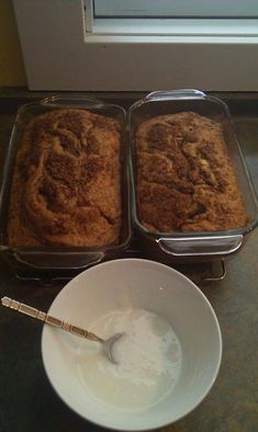 This is an easy breakfast bread made from a cake mix recipe. It is cinnamon bread good enough for breakfast; I hope you enjoy this easy cinnamon bread with a cake mix. Cake Mix Banana Bread, Banana Bread Recipes, Bread Cake, Cake Mix Muffins, Breakfast And Brunch, Breakfast Recipes, Pina Colada, Cake Mix Recipes, Dessert Recipes