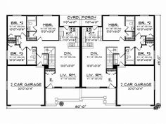 Eplans Country House Plan Comfortable One Story Duplex